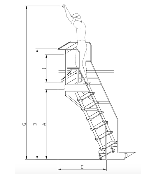 scala scorrevole laterale
