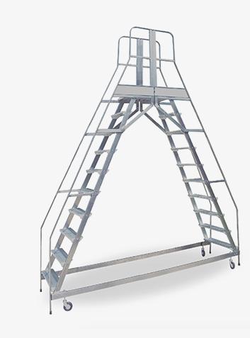 scala a ponte con parapetto